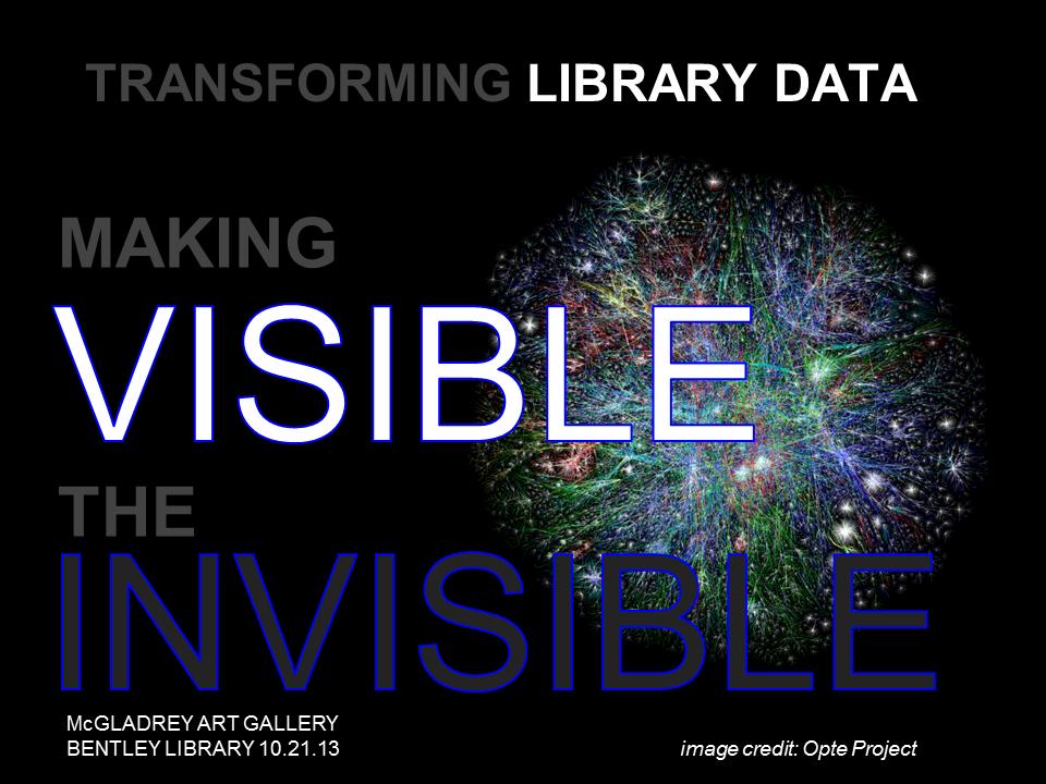 Library data exhibit image
