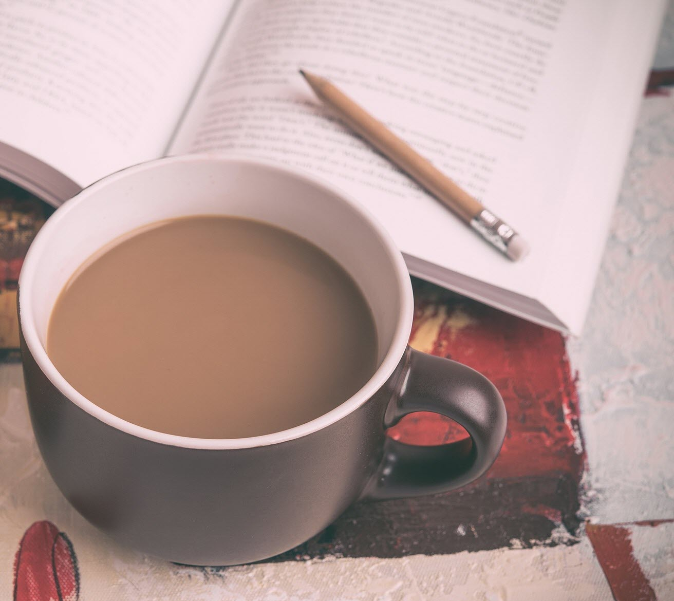 image of coffee and books
