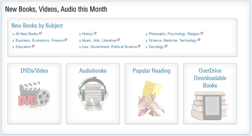 new books page screenshot