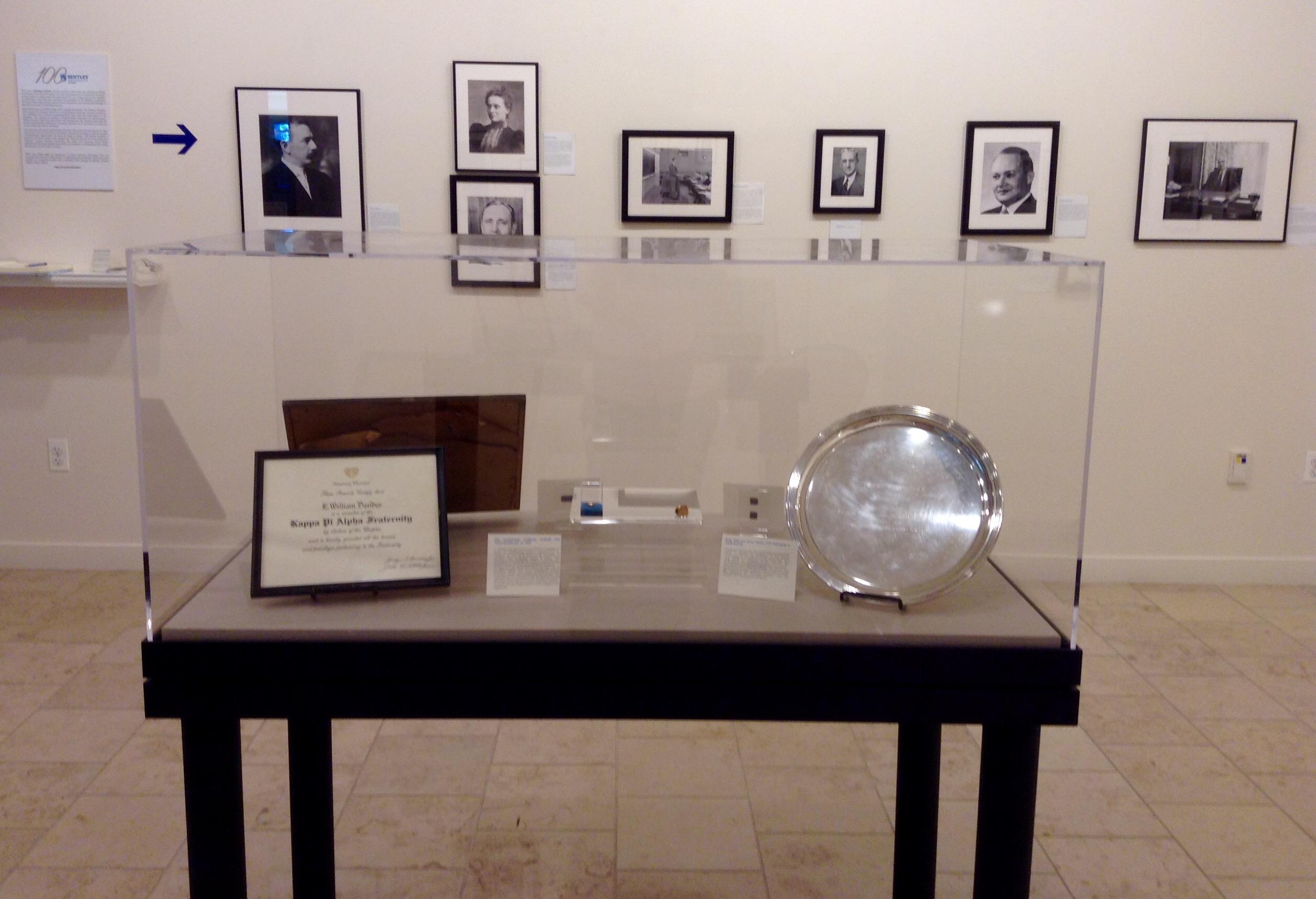 Bentley Leaders exhibit case