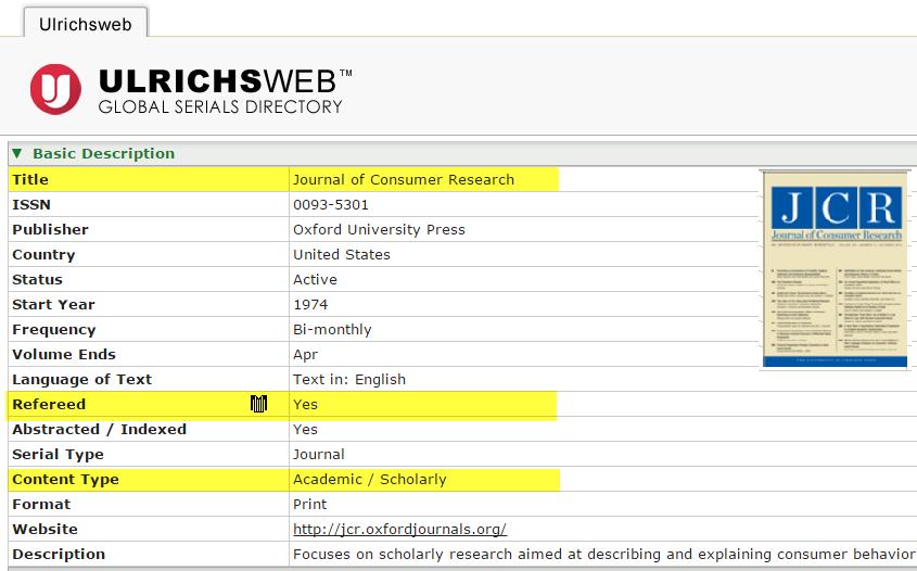 Ulrichsweb database
